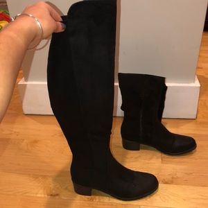 Suede over the knee boots. Size 6 1/2